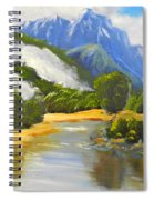 Haast River New Zealand Spiral Notebook