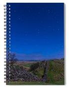 Hadrians Wall Near Walltown At Night Spiral Notebook