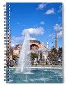 Haghia Sophia Fountain Spiral Notebook