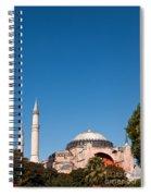Hagia Sophia Blue Sky 02 Spiral Notebook