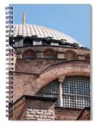 Hagia Sophia Curves 01 Spiral Notebook