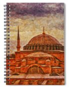 Hagia Sophia Digital Painting Spiral Notebook