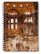 Hagia Sophia Interior 04 Spiral Notebook