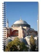 Hagia Sophia Mosque Landmark In Instanbul Turkey Spiral Notebook