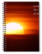 Haiku Sundown Spiral Notebook