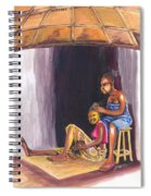Hair Dresser In Rwanda Spiral Notebook