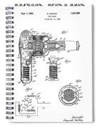 Hair Dryer 3 Patent Art 1931 Spiral Notebook