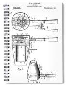 Hair Dryer 4 Patent Art 1911 Spiral Notebook