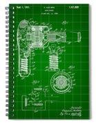Hair Dryer Patent 1929 - Green Spiral Notebook