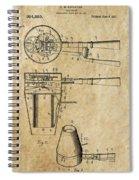Hair Dryer Patent Art 1911 Spiral Notebook
