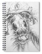 Hair-ied Horse Soilder Spiral Notebook