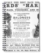 Hair Restorative, 1891 Spiral Notebook