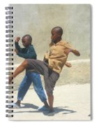 Haitian Boys Playing Soccer Spiral Notebook