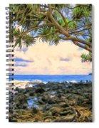 Hala Trees At Ka'anae Point Spiral Notebook