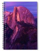Half Dome Glow Spiral Notebook