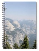 Half Dome Panorama View Spiral Notebook