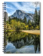 Half Dome Reflected In The Merced River Spiral Notebook