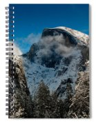 Half Dome Winter Spiral Notebook