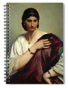 Half-length Portrait Of A Roman Woman Spiral Notebook