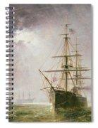 Half Mast High 19th Century Spiral Notebook