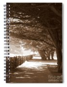 Half Moon Bay Pathway Spiral Notebook
