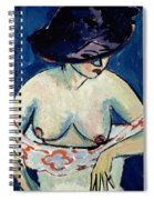 Half Naked Woman With A Hat Spiral Notebook