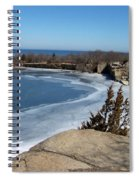 Icy Quarry Spiral Notebook