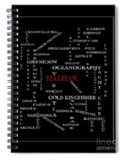 Halifax Nova Scotia Crosswords Red Spiral Notebook