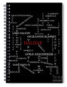 Halifax Nova Scotia Landmarks And Streets Spiral Notebook