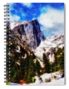 Hallett Peak In Spring Spiral Notebook