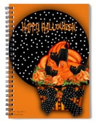 Halloween Black Cat Cupcake 2 Spiral Notebook