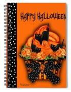 Halloween Black Cat Cupcake 3 Spiral Notebook