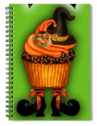 Halloween Cupcakes - Green Spiral Notebook