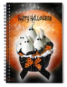 Halloween Ghost Cupcake 1 Spiral Notebook