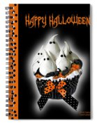 Halloween Ghost Cupcake 3 Spiral Notebook