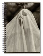Halloween Goast Sepia Spiral Notebook