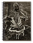 Halloween Green Skeleton Black And White Spiral Notebook