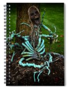 Halloween Green Skeleton Vinette Spiral Notebook