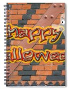 Halloween Greeting Card - Brick Wall In Philadelphia Spiral Notebook