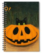 Halloween Kitty Boo Spiral Notebook