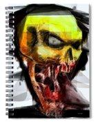 Halloween Mask Spiral Notebook