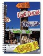 Halloween Signs Pionting In Various Spiral Notebook