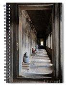 Hallway At Angkor Wat Spiral Notebook