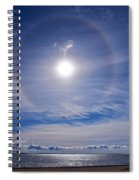 Halo Over  The Sea Spiral Notebook