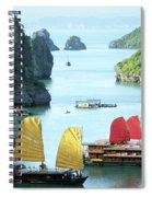 Halong Bay Sails 01 Spiral Notebook