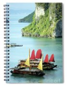 Halong Bay Sails 02 Spiral Notebook