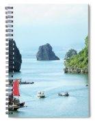 Halong Bay Sails 03 Spiral Notebook
