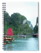 Halong Bay Sails 04 Spiral Notebook