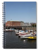 Hamburg Port With Fleet  Spiral Notebook