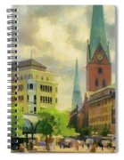 Hamburg Street Scene Spiral Notebook